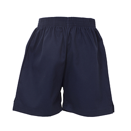 Navy Cotton Sports Shorts