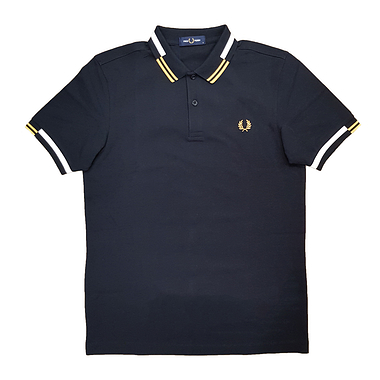 Fred Perry M8551 Abstract Polo Black