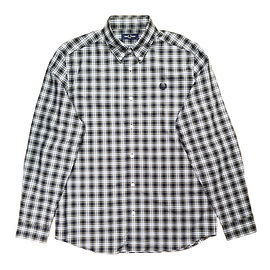 Fred Perry M8567 Small Check Shirt Navy