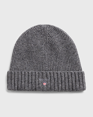 Gant Wool lined Beanie Dark Grey