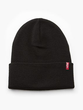 Levi's Slouchy Red Tab Beanie Black