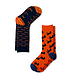 AFNF 2 Pack Fish Socks Blue on Orange