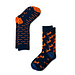 AFNF 2 Pack Fish Socks Orange on Blue
