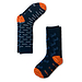 AFNF 2 Pack Fish Socks White and Blue on Blue