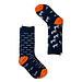 AFNF 2 Pack Fish Socks White On Blue