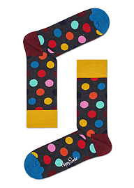 Happy Socks Big Grey Dot Sock