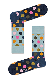 Happy Socks Big Mulit2 Dot Block Sock