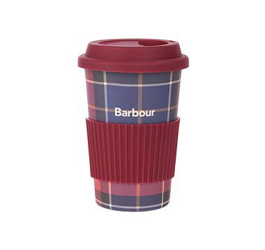 Barbour Tartan Travel Mug Red
