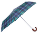 Barbour Tartan Mini Umbrella Seaweed