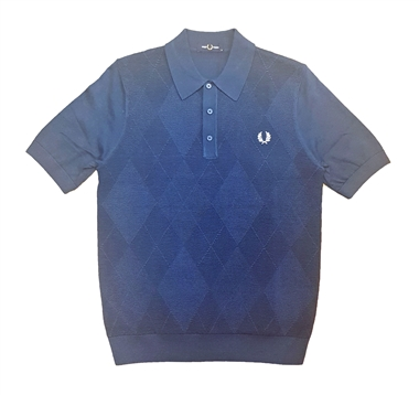Fred Perry K7514 Insignia Tonal Argyle Knitted