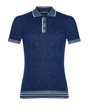 Remus 58438 Blue Knitted Polo