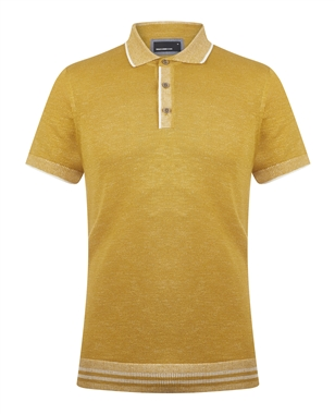 Remus 58438 Ochre Knitted Polo