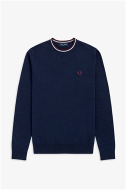 Fred Perry K9601 Classic Crew Neck Carbon Blue