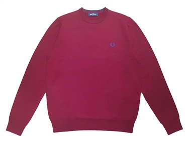 Fred Perry K7601 Dark Red Classic Merino Crew Neck