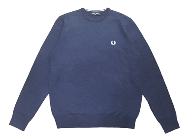 Fred Perry K7601 Phantom Marl Classic Merino Crew Neck