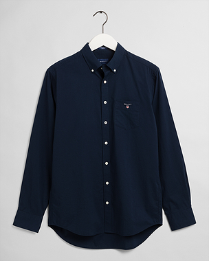 Gant Regular Broadcloth BD Shirt Marine