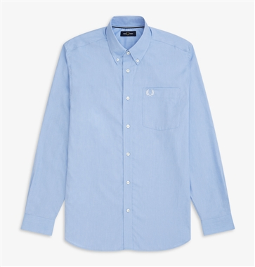 Fred Perry M7550 Light Smoke LS Oxford Shirt