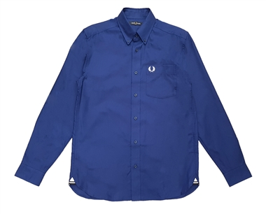 Fred Perry M7550 Medieval Blue LS Oxford Shirt