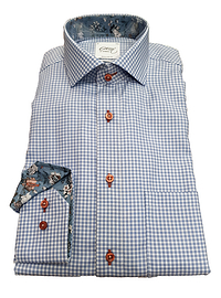 Oscar Blue Check Long Sleeve Shirt