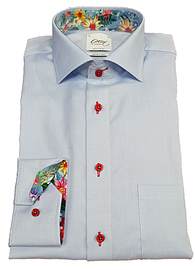 Oscar Blue Long Sleeve Formal Shirt