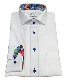 Oscar White Long Sleeve Formal Shirt