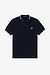 Fred Perry M1618 Abstract Tipped Polo Navy