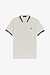 Fred Perry M1618 Abstract Tipped Polo Snow White