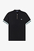 Fred Perry M1623 Tipped Cuff Zip Neck Black