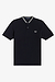 Fred Perry M4526 Bomber Collar Pique Polo Navy