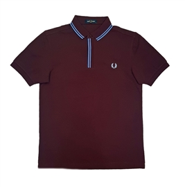 Fred Perry M8559 Tipped Placket Polo Mahogany