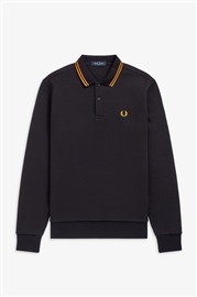 Fred Perry M9601 Long sleeve Tipped Polo Black