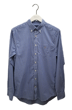 Gant The Broadcloth Gingham Shirt College Blue