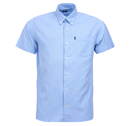 Barbour Blue Oxford Short Sleeve Shirt