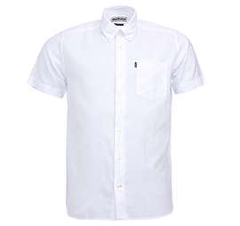 Barbour White Oxford Short Sleeve Shirt