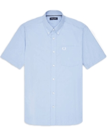 Fred Perry M8502 Short Sleeve Oxford Shirt Light Smoke