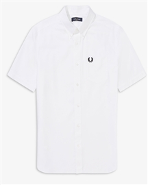 Fred Perry M8502 Short Sleeve Oxford Shirt White