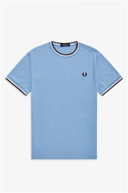 Fred Perry M1588 Twin Tipped T-shirt Sky Blue
