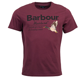 Barbour Country Tee Merlot