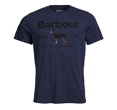Barbour Country Tee Navy Dog