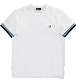 Fred Perry Bold Tipped Snow White T-Shirt