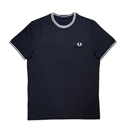 Fred Perry M1588 Black Twin Tipped T-Shirt