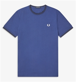 Fred Perry M1588 Medieval Blue Twin Tipped T-Shirt