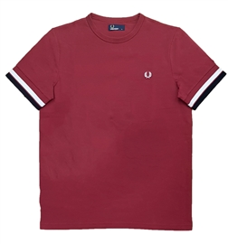 Fred Perry Bold Tipped Maroon T-Shirt
