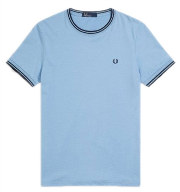 Fred Perry Sky Blue Twin Tipped T-Shirt