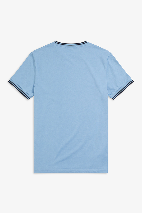 369fd19a2505 Fred Perry Sky Blue Twin Tipped T-Shirt. Tap to expand. Image 1 of 3