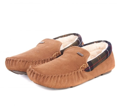 Barbour Monty Slipper Camel