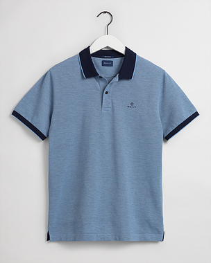 Gant 4-Colour Oxford Pique SS Rugger Powder Blue