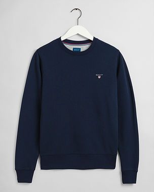 Gant Original Crew Neck Sweatshirt Evening Blue