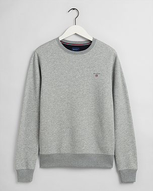 Gant Original Crew Neck Sweatshirt Grey Melange