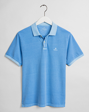 Gant Sunfaded Pique SS Rugger Pacific Blue